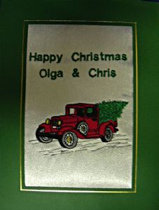PERSONALISED DRIVING HOME FOR CHRISTMAS CARD